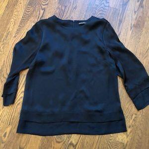 Brooks Brothers black silk blouse sz 12